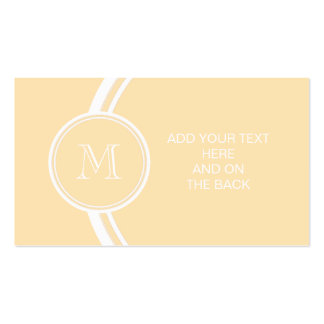 Light Peach High End Colored Pack Of Standard Business Cards