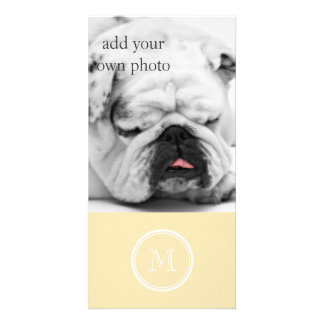 Light Peach High End Colored Customised Photo Card
