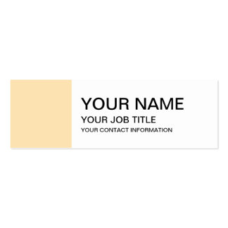 Light Peach High End Colored Pack Of Skinny Business Cards