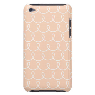 Light Peach Retro Colorful Modern Doodles Barely There iPod Covers