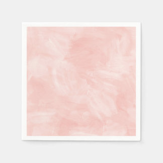Light Peach Retro Watercolor Texture Paper Napkins