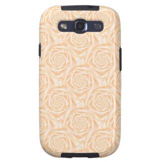 Light Peach Spiral Roses Samsung Galaxy S Galaxy SIII Case