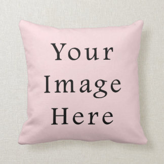 Light Peachy Pink Color Trend Blank Template Cushions