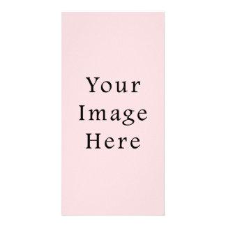 Light Peachy Pink Color Trend Blank Template Custom Photo Card