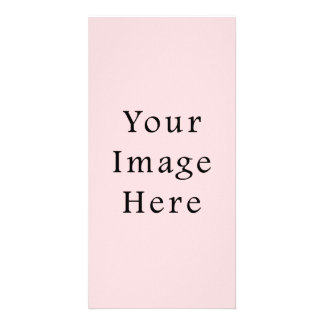 Light Peachy Pink Color Trend Blank Template Custom Photo Card