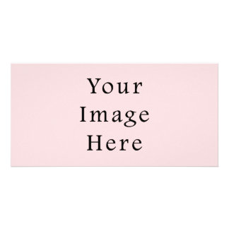 Light Peachy Pink Color Trend Blank Template Customized Photo Card