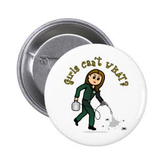Light Pest Control Girl 6 Cm Round Badge