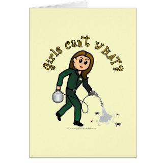 Light Pest Control Girl Greeting Card