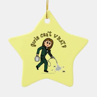 Light Pest Control Girl Christmas Ornament