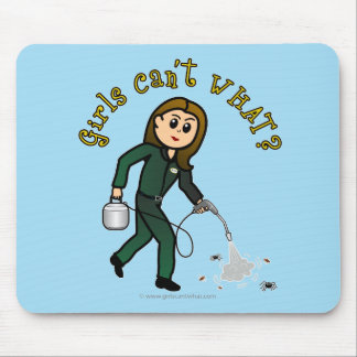 Light Pest Control Girl Mouse Pad