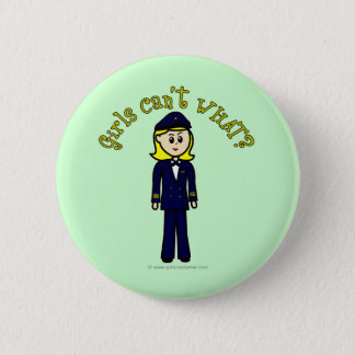 Light Pilot Girl 6 Cm Round Badge