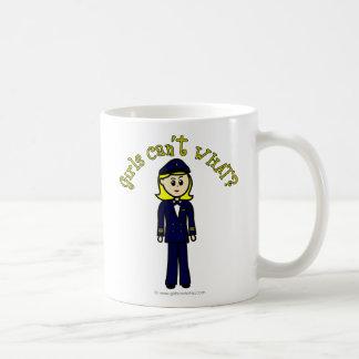 Light Pilot Girl Basic White Mug