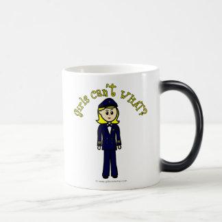Light Pilot Girl Morphing Mug