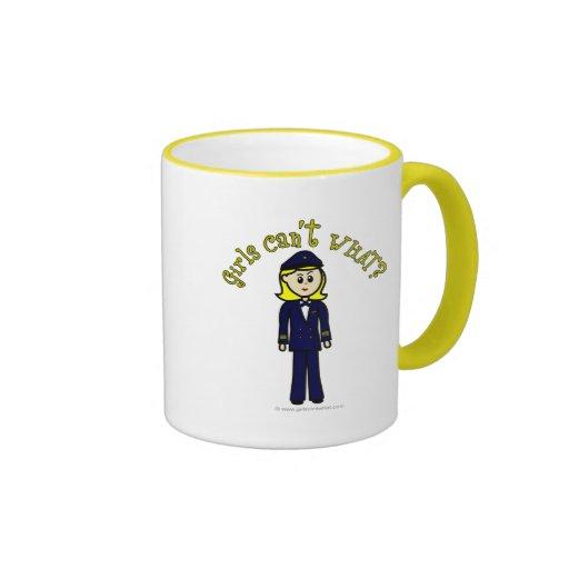 Light Pilot Girl Coffee Mug