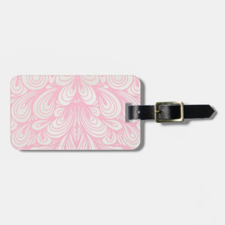 Light Pink Abstract Feathers Design Luggage Tag