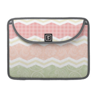 Light Pink and Green  Cute Patterns Sleeves For MacBooks