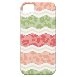Light Pink and Green Leopard Print iPhone 5 Cover