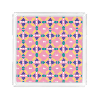 Light Pink and Yellow Tribal - Makeup Jewelry Tray
