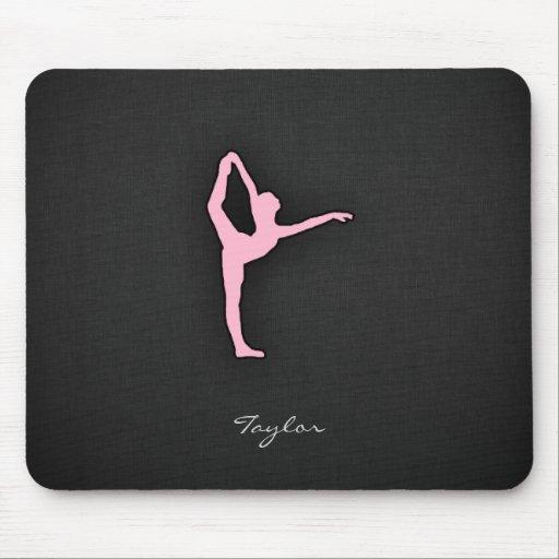 Light Pink Ballet Dancer Mouse Pad