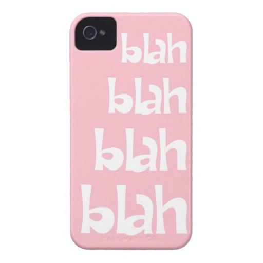 Light Pink Blah Blah Blah iPhone 4s Case iPhone 4 Covers