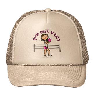 Light Pink Boxer Trucker Hats
