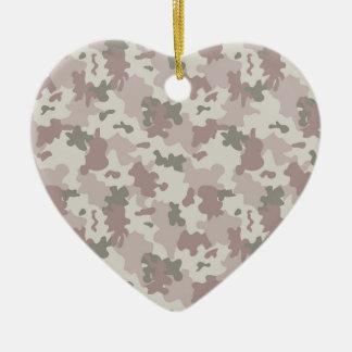 Light Pink Camouflage Ceramic Heart Decoration