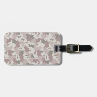 Light Pink Camouflage Luggage Tag