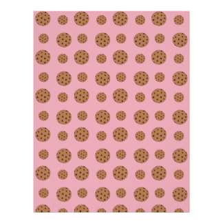 Light pink chocolate chip cookies pattern 21.5 cm x 28 cm flyer