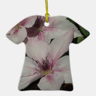Light Pink Clematis Blossom Ceramic T-Shirt Decoration