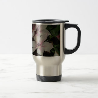 Light Pink Clematis Blossom Stainless Steel Travel Mug