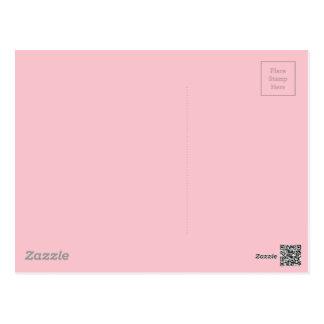 Light Pink Color Postcard
