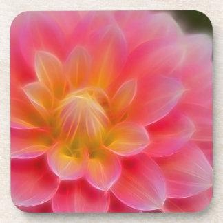 Light Pink Dahlia Beverage Coaster