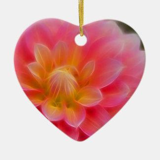 Light Pink Dahlia Christmas Ornament