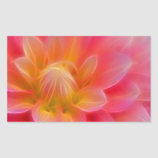 Light Pink Dahlia Rectangular Sticker