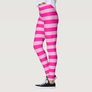 Light Pink & Darker Pink Stripes Leggings