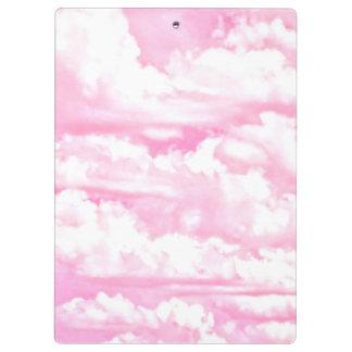 Light Pink Elegant Clouds Decor Clipboard