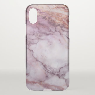 Light Pink Faux Marble Print iPhone X Case