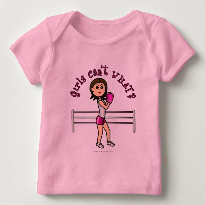Light Pink Female Boxing Baby T-Shirt