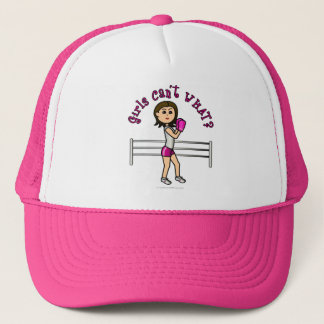 Light Pink Female Boxing Trucker Hat