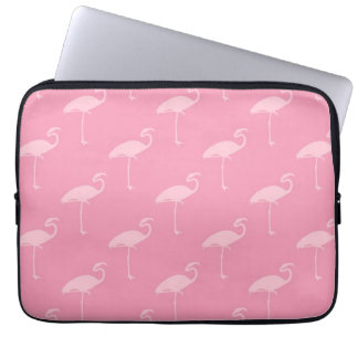 Light Pink Flamingo Tropical Flamingos Laptop Sleeve