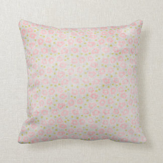Light Pink Floral Reversible Cushion