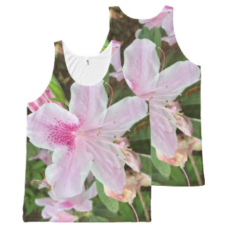 Light Pink Flower All-Over Print Tank Top