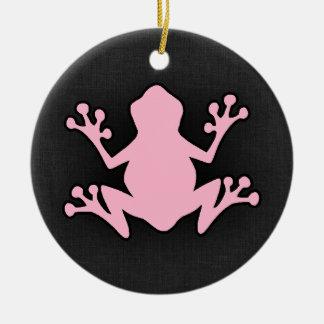 Light Pink Frog Round Ceramic Decoration