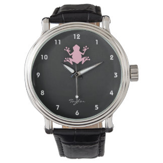 Light Pink Frog Watch