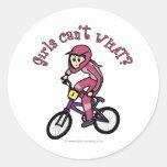 Light Pink Girls BMX Classic Round Sticker