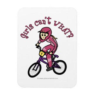 Light Pink Girls BMX Vinyl Magnets
