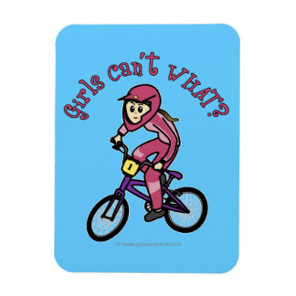 Light Pink Girls BMX Rectangular Photo Magnet