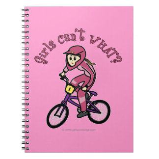 Light Pink Girls BMX Notebooks