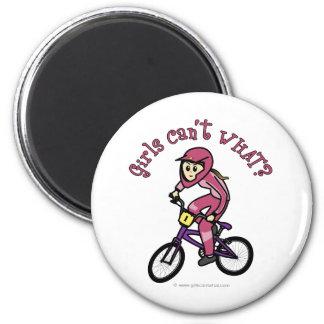Light Pink Girls BMX Refrigerator Magnets