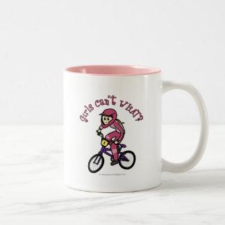 Light Pink Girls BMX Two-Tone Mug